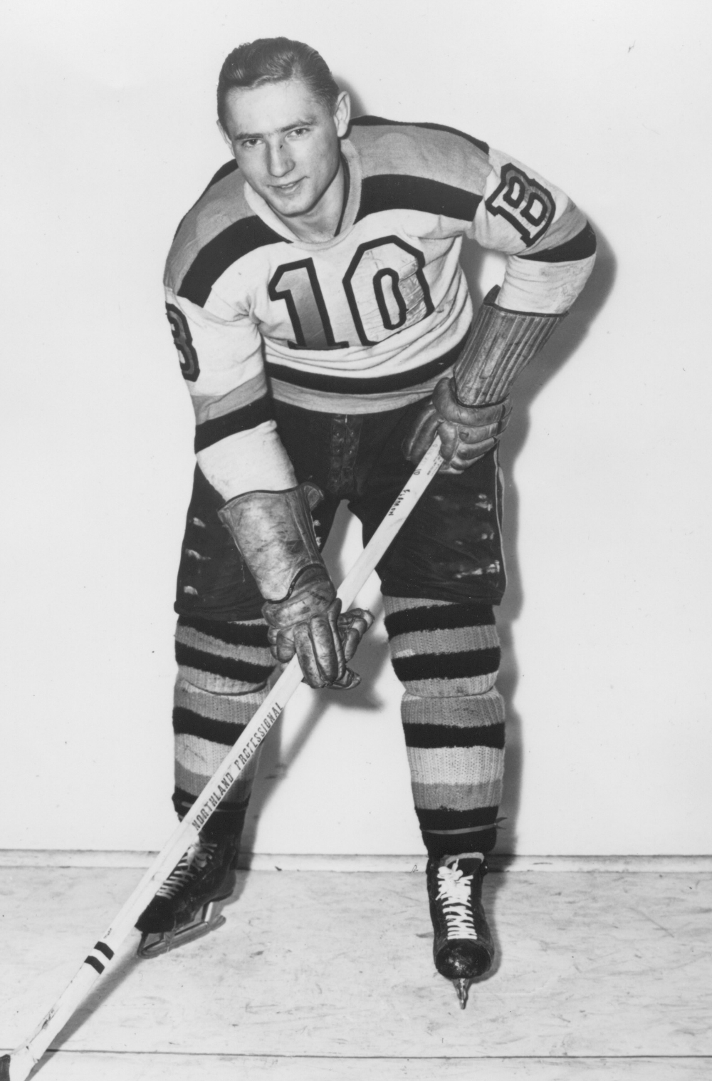 Fern Flaman with the Boston Bruins.