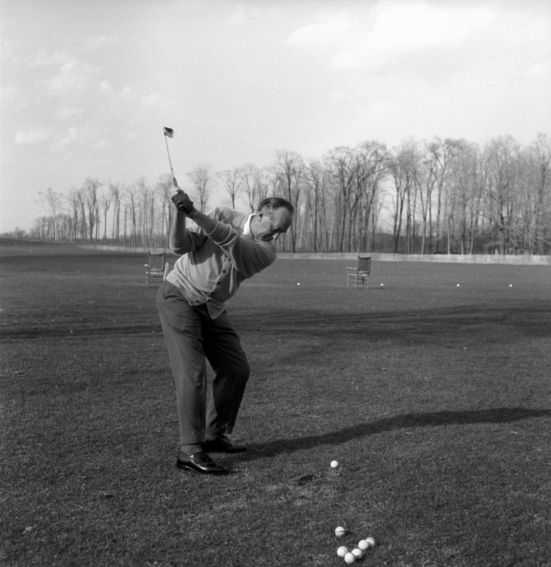 Fletcher Pat in backswing