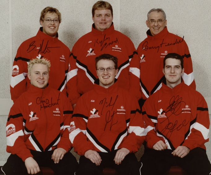 The 2003 Steven Laycock curling team